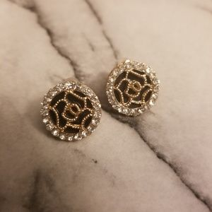 Jewelry - Romantic Rhinestone Round Dazzling Stud Earrings